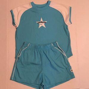 Nike White and Blue Girls Set - Size 6X